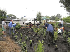 Worcester Youth Center Rain Garden - Blackstone River Coalition